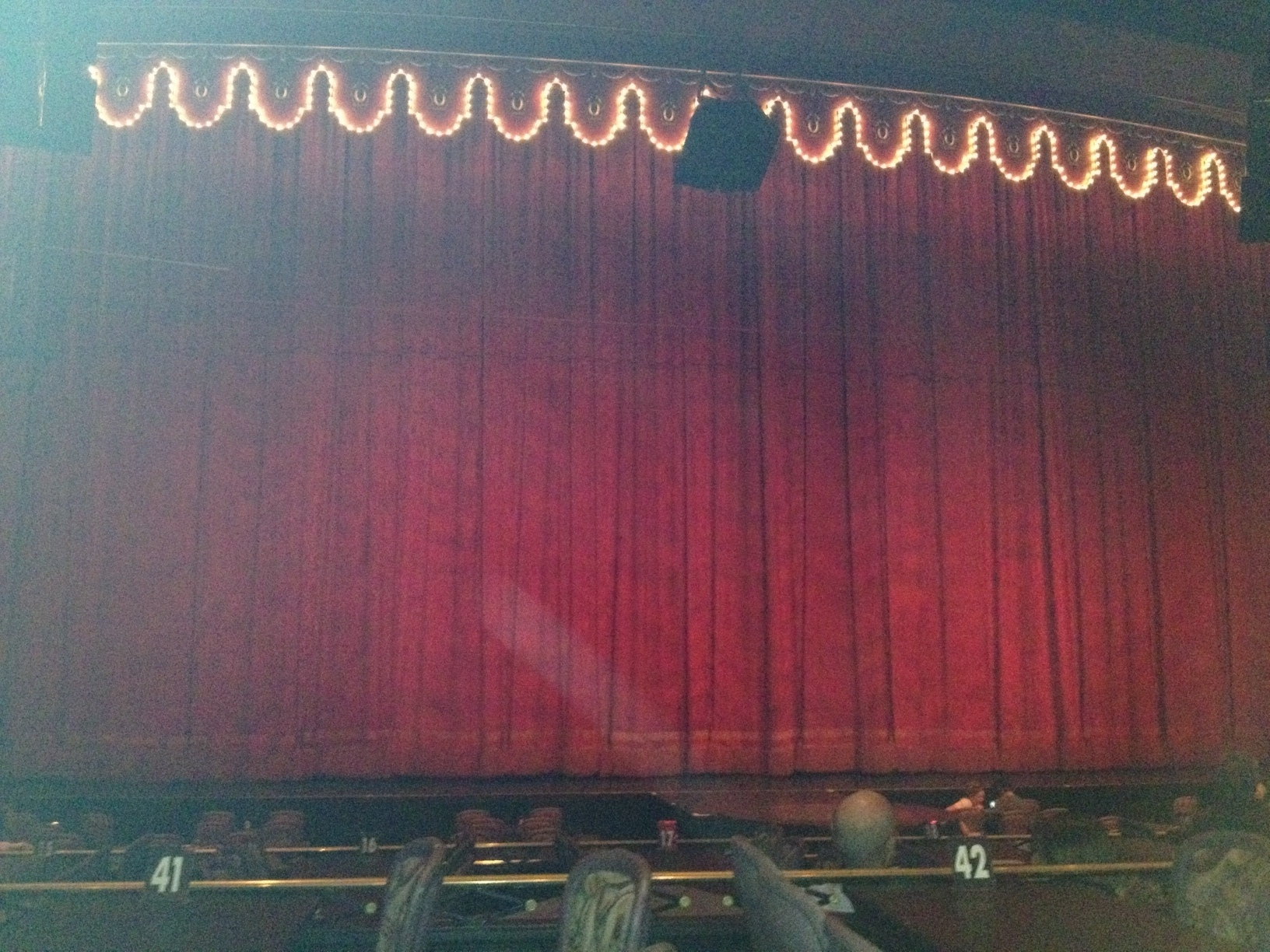 big stage with curtain No stage fright on this big stage for chris cady