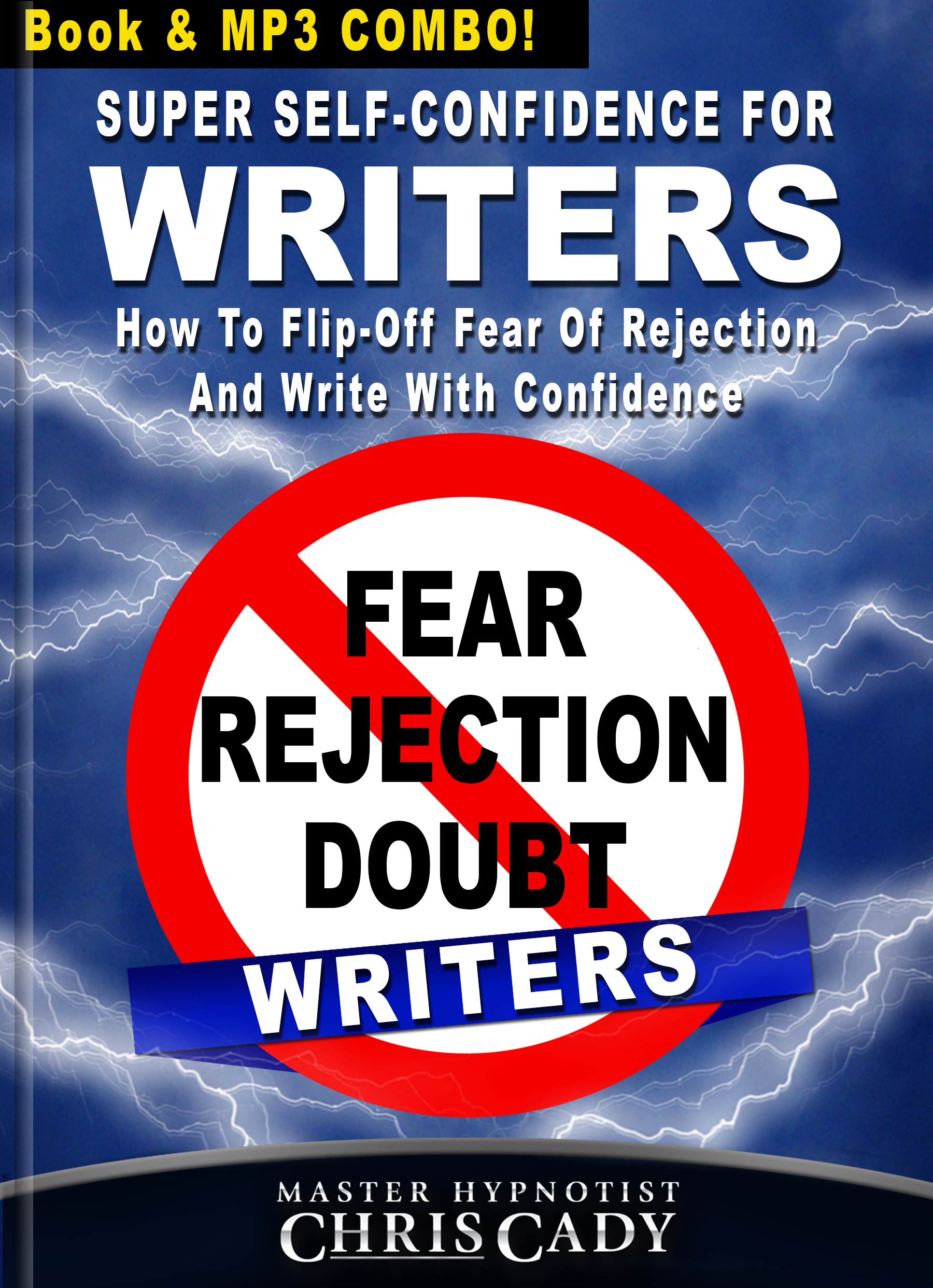 no stage fright confidence for writers fear rejection self doubt book cover